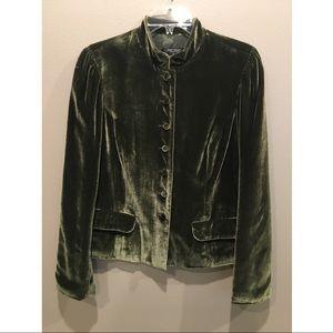 A beautiful green velvet color jacket